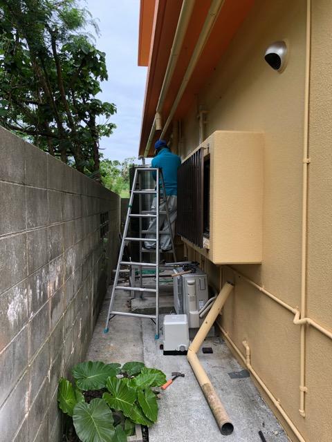 雨水タンク再設置状況