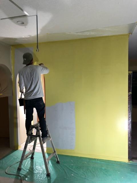特殊塗装準備施工状況写真