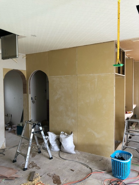 和室壁施工後写真