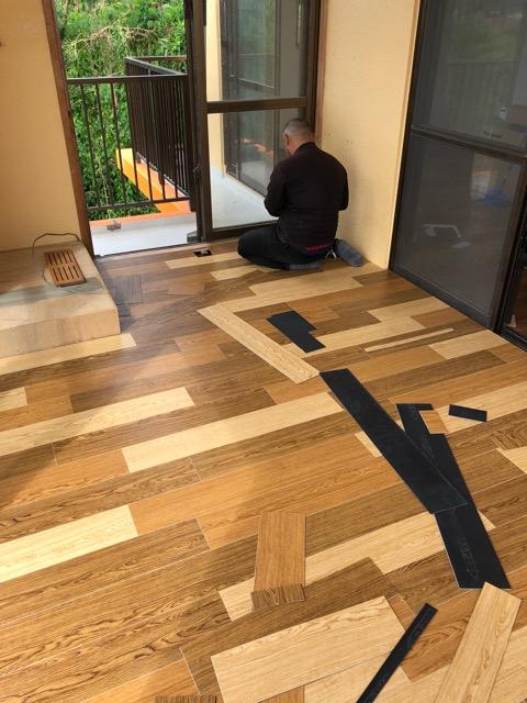 床貼りリフォーム仕上げ