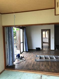 リフォーム前和室からの写真