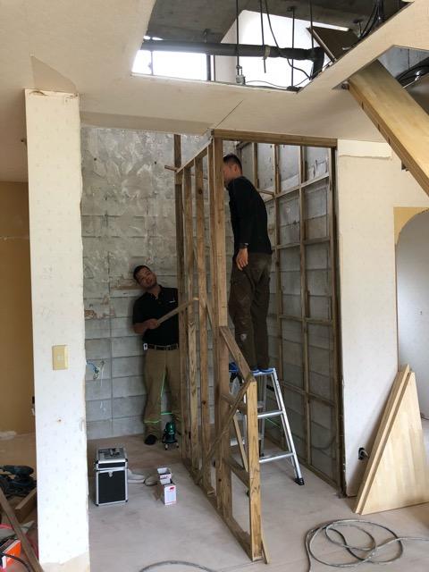 階段施工状況写真