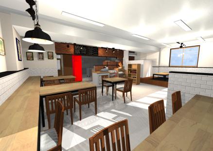 リフォームプラン(提案)3Dパース左からの写真
