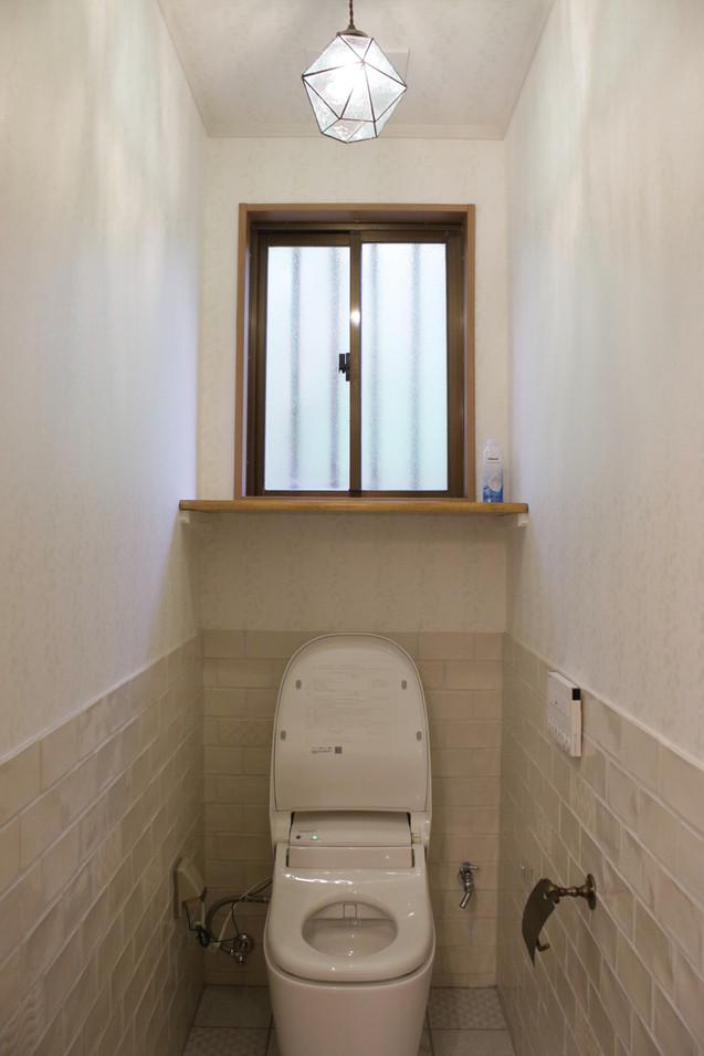 おしゃれなタイルいっぱいの『トイレ』
