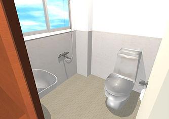 比屋根アパート303(新トイレ全体入口から)3J.jpg