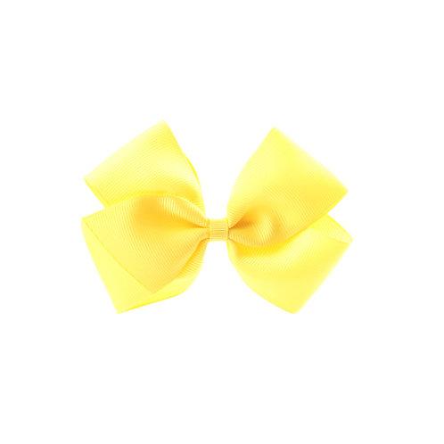 Medium London Bow Hair Tie - Lemon