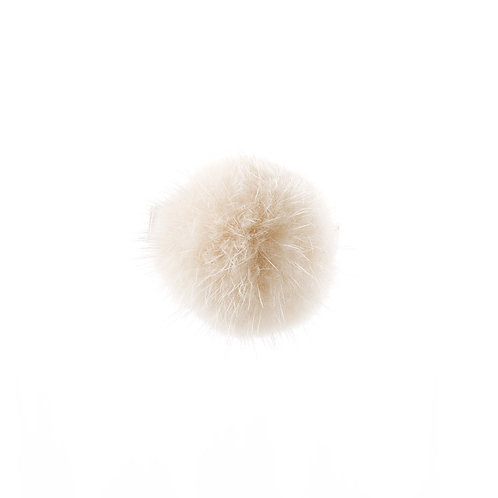 Large Mink Puff - Light Beige