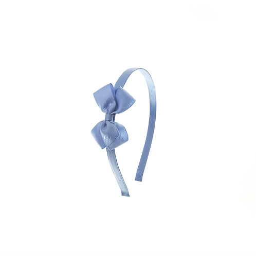 Small London Bow Hairband - French Blue