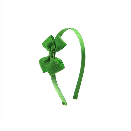 Small London Bow Hairband - Classic Green