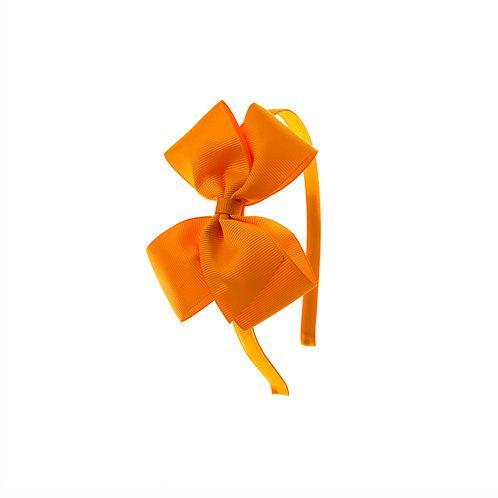 Medium London Bow Hairband - Tangerine