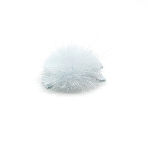 Mink Puff Hair Clip - Blue Vapor