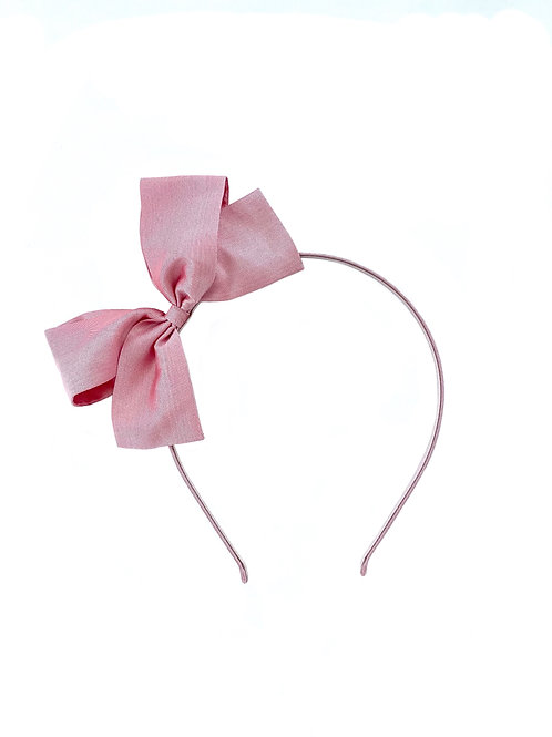 Paris Bow Hairband - Wild Rose Silk