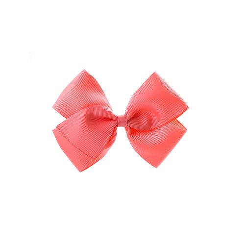 Medium London Bow - Coral Rose