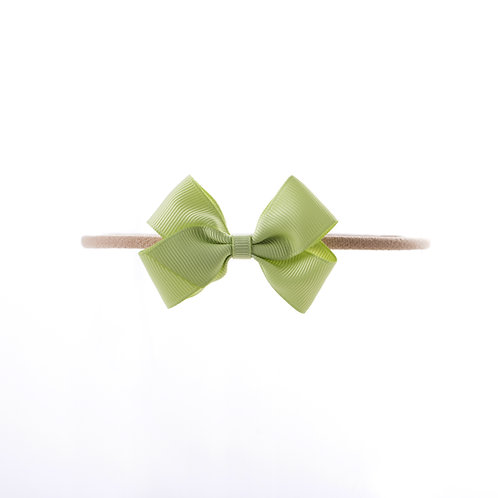 Small London Bow Soft Hairband - Lime Juice