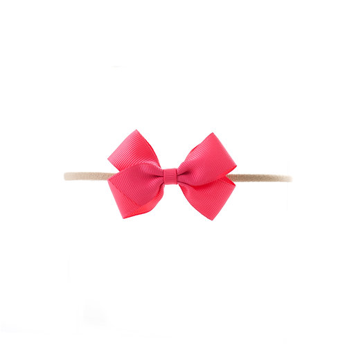 Small London Bow Soft Hairband - Passionfruit