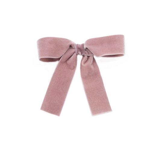 Large Velvet Bow - Rosy Mauve