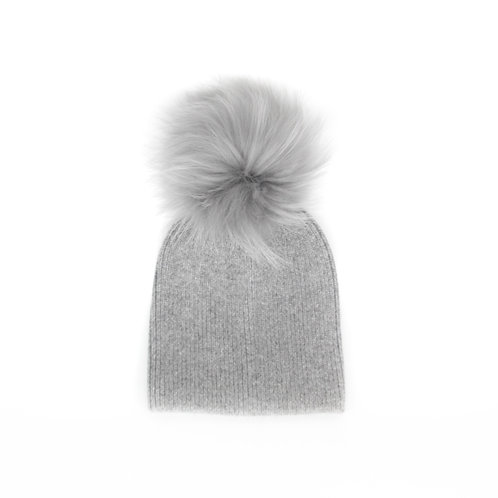 *Exclusive* Angora Single Pom Child Hat - 2 years to 5 years