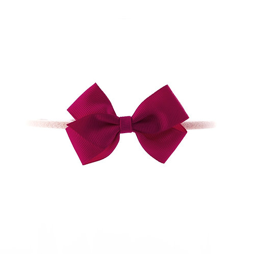 Small London Bow Soft Hairband - Fuchsia