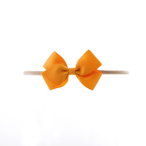 Small London Bow Soft Hairband - Gold