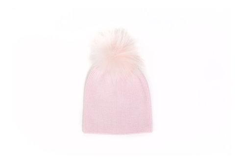 Angora Single Pom Hat - Pink - 6 year to Adult