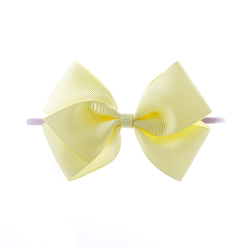 Medium London Bow Soft Hairband - Baby Maize