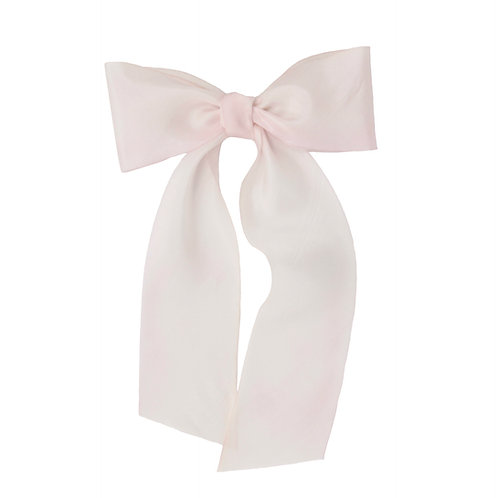 Oversized Long Silk Bow - Cherry Blossom