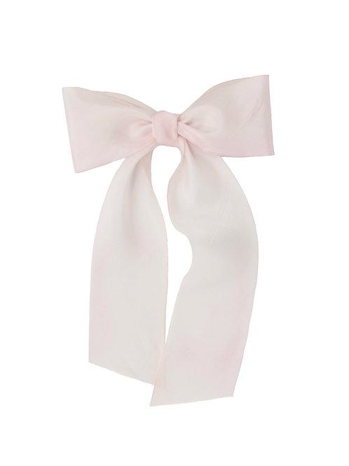 Oversized Long Silk Bow - Cherry Blossom
