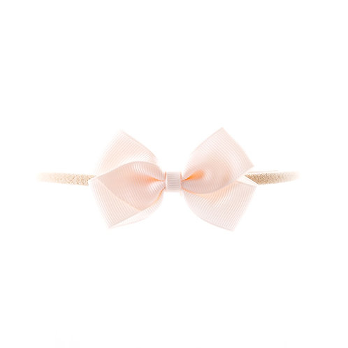 Small London Bow Soft Hairband - Sideshow Rose
