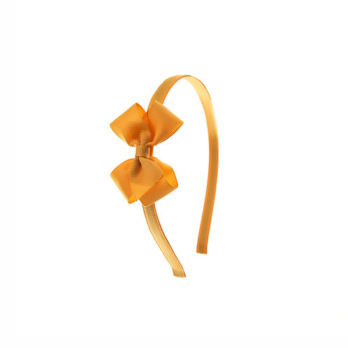 Small London Bow Hairband - Gold