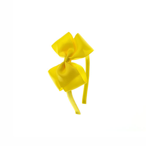 Medium London Bow Hairband - Daffodil