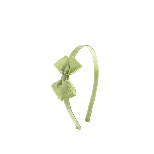 Small London Bow Hairband - Lime Juice