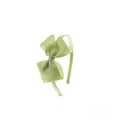 Medium London Bow Hairband - Lime Juice