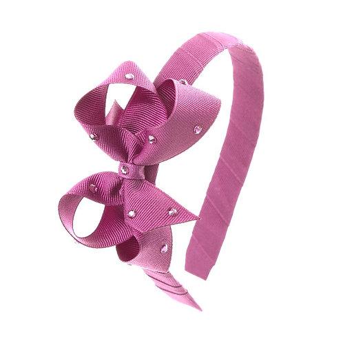 Bow Hairband - Rosy Mauve