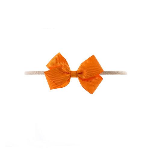 Small London Bow Soft Hairband - Tangerine