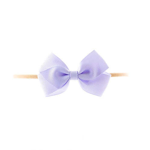 Small London Bow Soft Hairband - Lilac Mist