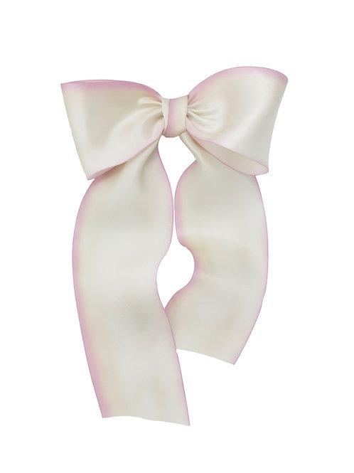 Oversized Long Silk Bow - Blushing Bride