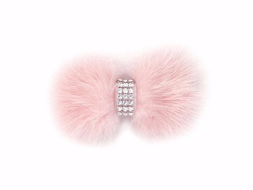 Mink Bow Hair Clip - Light Pink