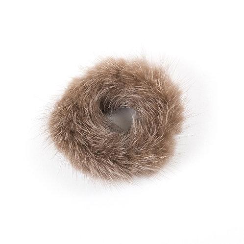 Hair Scrunchie - Brown