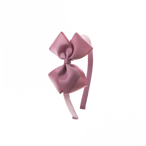 Medium London Bow Hairband - Rosy Mauve