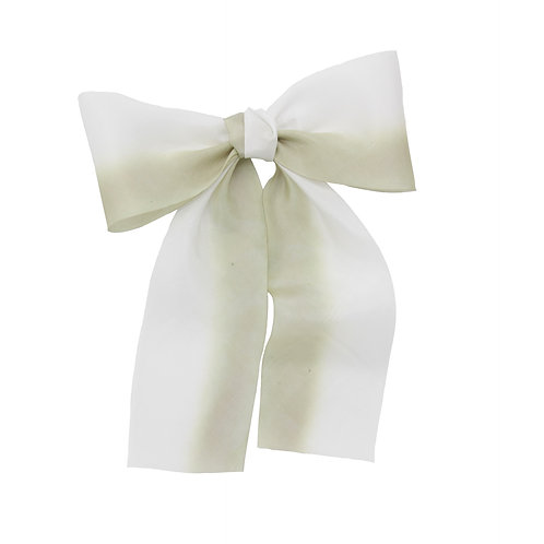 Oversized Long Silk Bow - Spring Moss