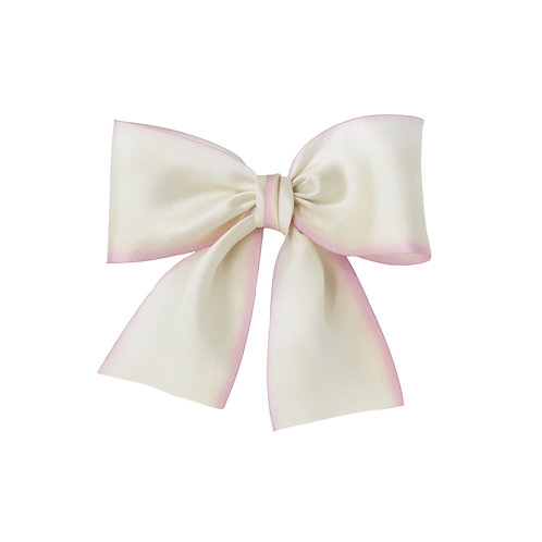 Oversized Silk Bow - Blushing Bride
