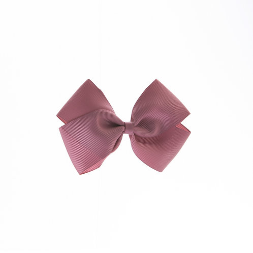 Medium London Bow - Rosy Mauve