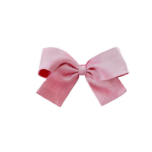 Small Paris Bow - Wild Rose  Silk Taffeta