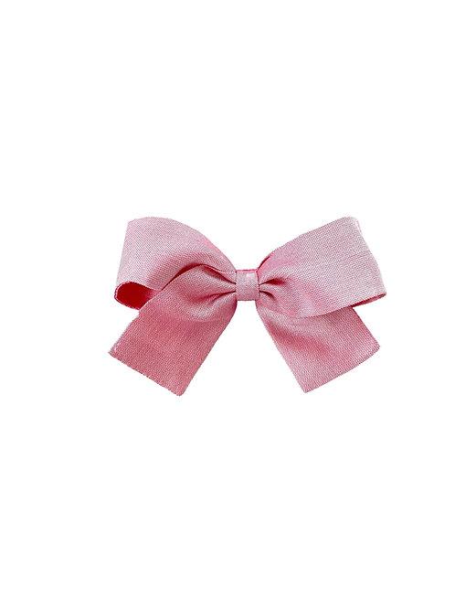 Small Paris Bow - Wild Rose  Silk Taffeta