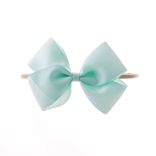Medium London Bow Soft Hairband - Crytalline