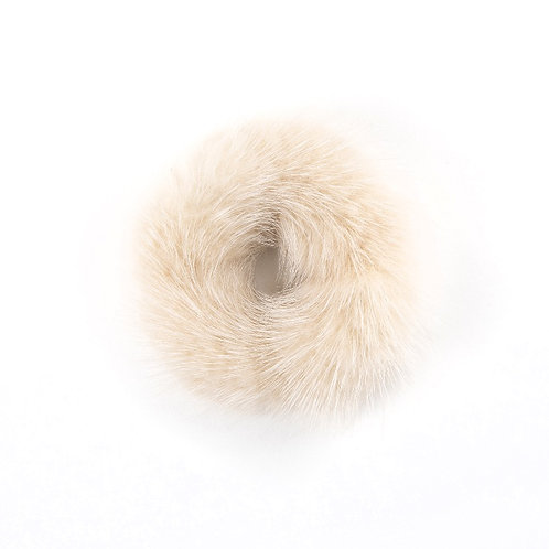 Hair Scrunchie - Light Oatmeal
