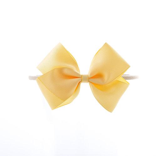 Medium London Bow Soft Hairband - Chamois