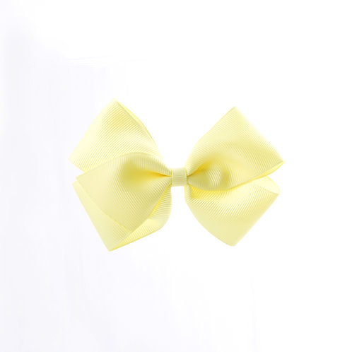 Medium London Bow Hair Tie - Baby Maize