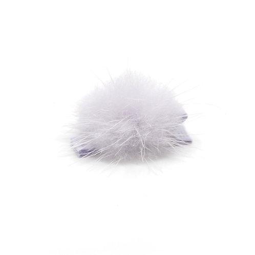 Mink Puff Hair Clip - Lilac Mist
