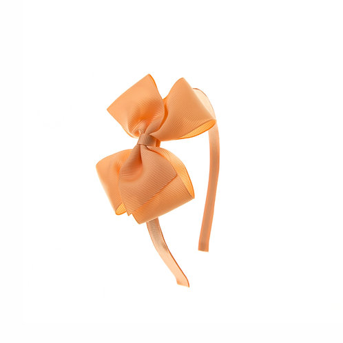 Medium London Bow Hairband - Peach